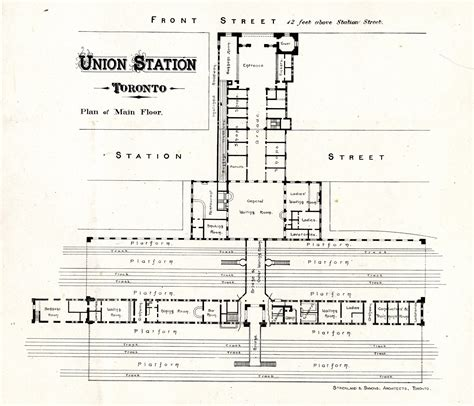 union station dc floor plan union station toronto plan of floor digital archive toronto library