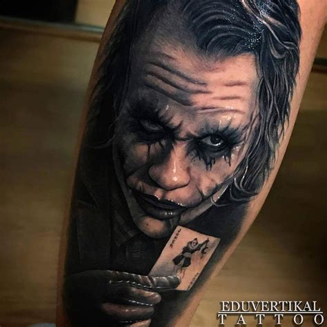 heath ledger tattoo joker heath ledger