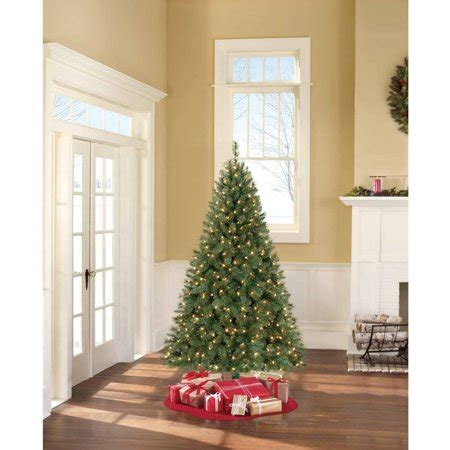 ashland pre lit windham spruce artificial tree pre lit 6 5 windham pine clear lights walmart