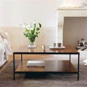 table basse en bois de sheesham massif et m 233 tal l 100 cm