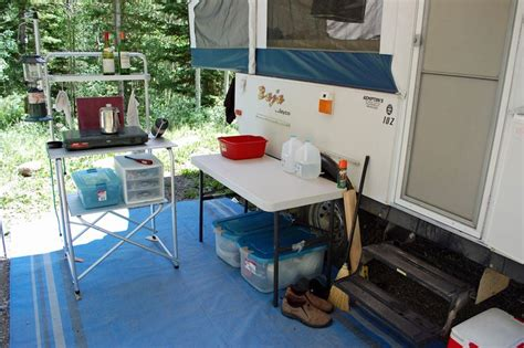 cer trailer kitchen ideas rv storage ideas outdoor cooking storage ideas or c