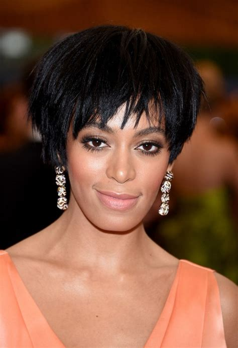black hairstyles razor cuts solange knowles layered black razor cut for black women