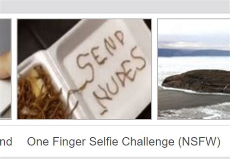 Send Nudes Meme - send nudes one finger selfie challenge knowyourmeme
