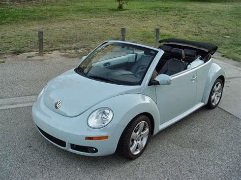 blue volkswagen beetle for sale used 2006 vw beetle convertible low miles by owner
