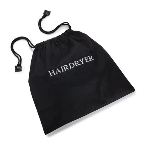 Hair Dryer Drawstring Bag hairdryer bags black hotel hairdryer bag