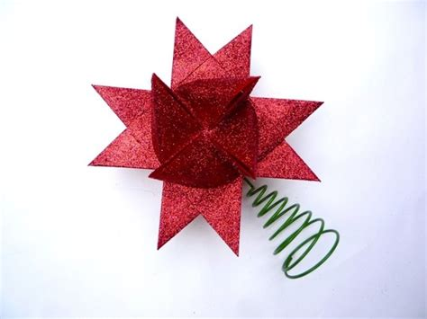 Origami Tree Topper - paper origami tree topper crafts