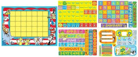 Dr Set Day And Termurah eureka dr seuss calendar bulletin board set new free