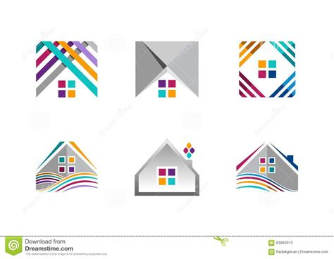 home based logo design real estate house logo building apartment icons collection of home construction symbol vector