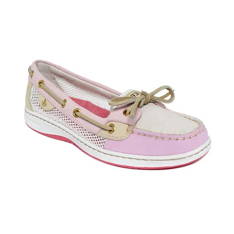 pink boat shoes sperry top sider angelfish boat shoes in pink rose open