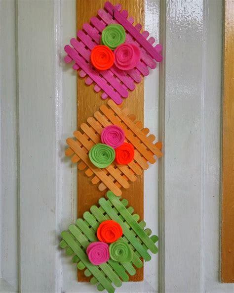 cara membuat hiasan dinding kain flanel cara bingkai foto dari stik es krim bliblinews com