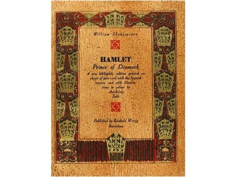libro hamlet prince of denmark 1930 libro bibliofilia edicion en corcho shakespeare william hamlet prince of denmark barce