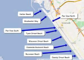 california piers map california map