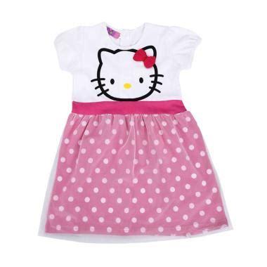 Agemlare Curly Dress Anak Pink jual pakaian baju anak perempuan branded harga bersaing
