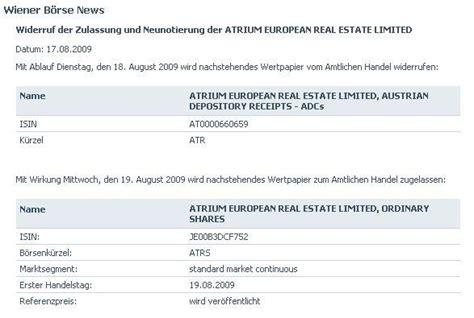 Muster Aktienbuch Schweiz 84330 Atrium Aktien Zum Handel An Euronext Amsterdam Zugelassen Eingetragen