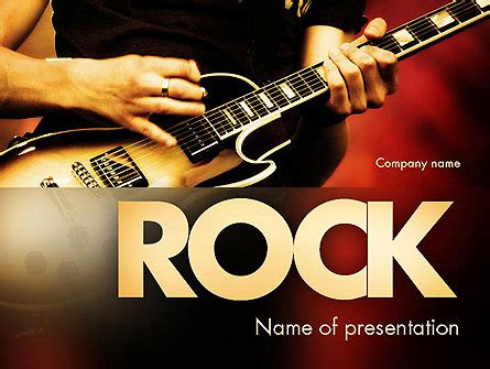 Rock Guitar Presentation Template For Powerpoint And Keynote Ppt Star Guitar Powerpoint Template