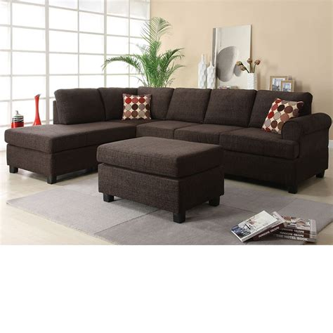 Reversible Sectional Sofa Chaise Dreamfurniture 50540 Donovan Butler Onyx Fabric Reversible Chaise Sectional Sofa Set
