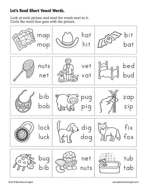 Learn To Read Worksheets For Kindergarten by 28 Free Learning To Read Worksheets Kindergarten