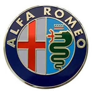 Alfa Romeo Emblem Alfa Romeo Large Thin Embossed Aluminum Emblem