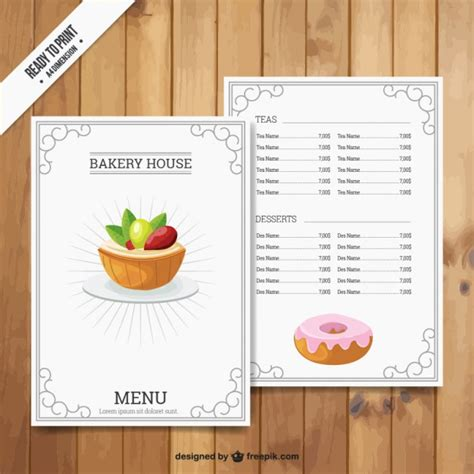 bakery house bakery house menu vector free download