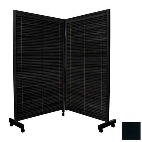 Lowes Room Dividers by Shop Furniture Room Dividers 2 Panel Black