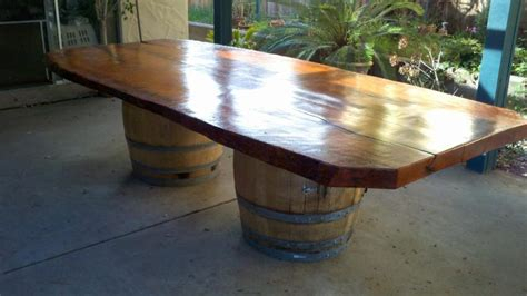 recycled wine barrels turned into exclusive furniture and