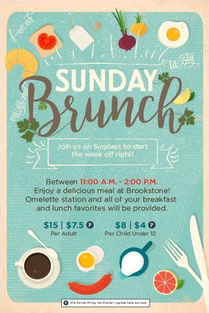 templates for flyers and posters 7 best images about brunch on pinterest chagne brunch