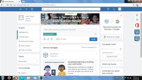 tutorial de edmodo 2016 tutorial para crear una aula virtual con edmodo youtube