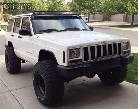 2000 jeep cherokee black wheel offset 2000 jeep cherokee hella stance 5 suspension