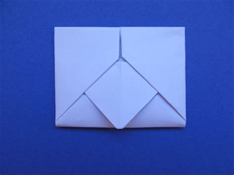 Folding A Paper Envelope - how to fold a letter into an envelope with a design