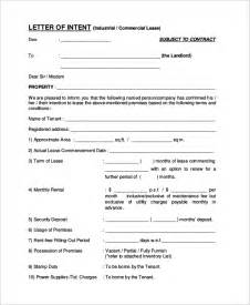 lease letter of intent template letter of intent exle 10 sles in word pdf