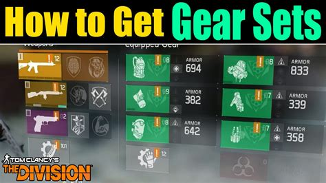 the division how to get the new gear sets