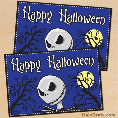 nightmare before printable template card free printable nightmare before card