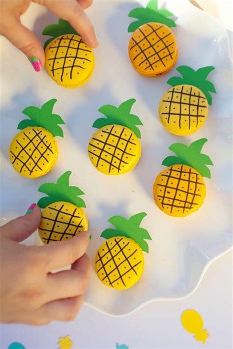 cute amp easy diy pineapple macarons