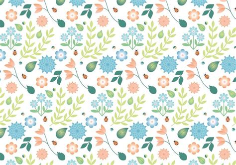design pattern used in spring flat design vector spring pattern design download free