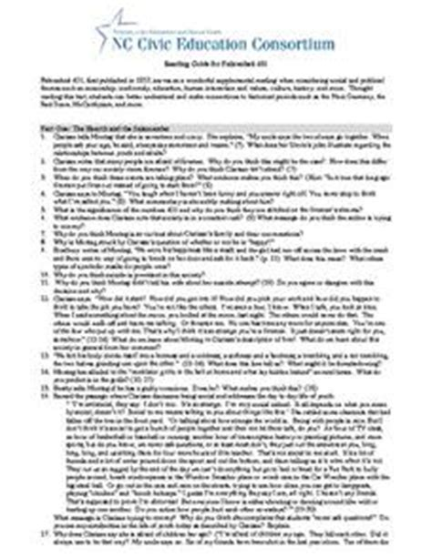 Fahrenheit 451 Worksheet by Reading Guide For Fahrenheit 451 9th 12th Grade