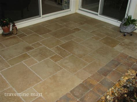 walnut brushed chiseled travertine tile walnut brushed chiseled travertine tile patio flooring