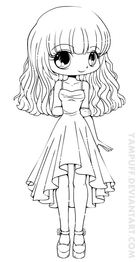 coloring pages chibi chibi coloring pages to and print for free