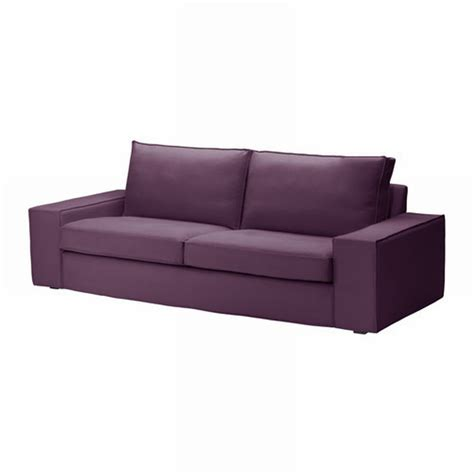 purple couch slipcover ikea kivik 3 seat sofa slipcover cover dansbo lilac purple