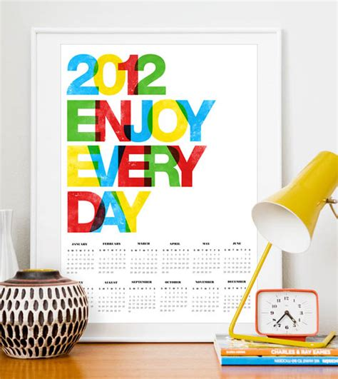design kalender poster 80 most creative 2012 calendar design 1 design per day