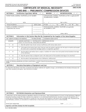 Cms 846 Form Fill Online Printable Fillable Blank Pdffiller Certificate Of Necessity Form Template