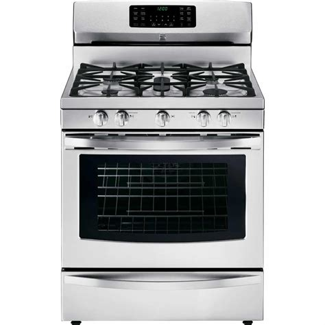 stainless steel appliances stainless steel stove kenmore 74343 5 6 cu ft gas range w convection oven