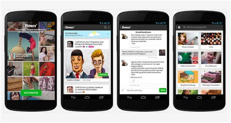 fiverr mobile site fiverr launches new android app
