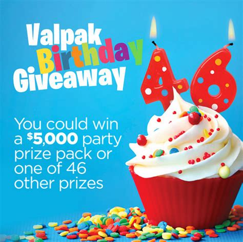 Valpak Com Sweepstakes - thrifty momma ramblings valpak birthday giveaway sweepstakes