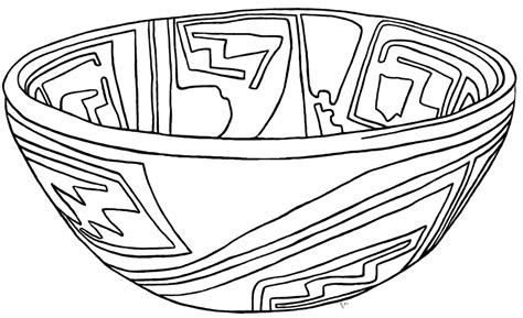Pottery Coloring Pages casas grandes pottery coloring page a1936 1 121