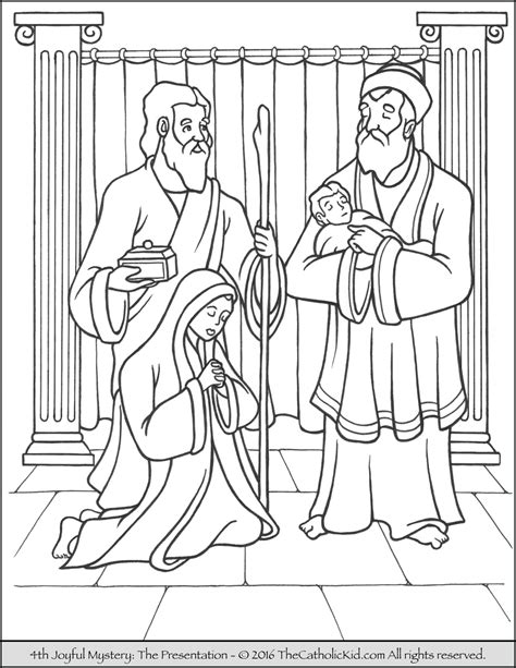 Coloring Pages Of The Joyful Mysteries | joyful mysteries rosary coloring pages the catholic kid