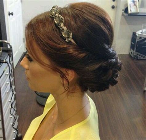 formal hairstyles headbands headband updo cute party hair pinterest updo