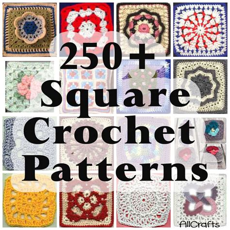 Free Printable Crochet Square Patterns 250 free crochet square patterns allcrafts free crafts
