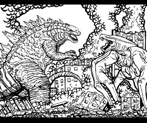 Godzilla Vs Muto Coloring Pages | godzilla vs muto by godzillafan1954 on deviantart
