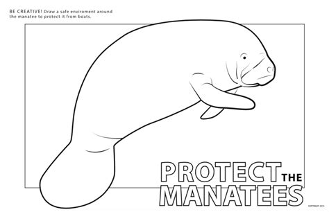 manatees coloring pages coloring home