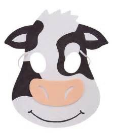cow mask template printable cow mask pictures to pin on